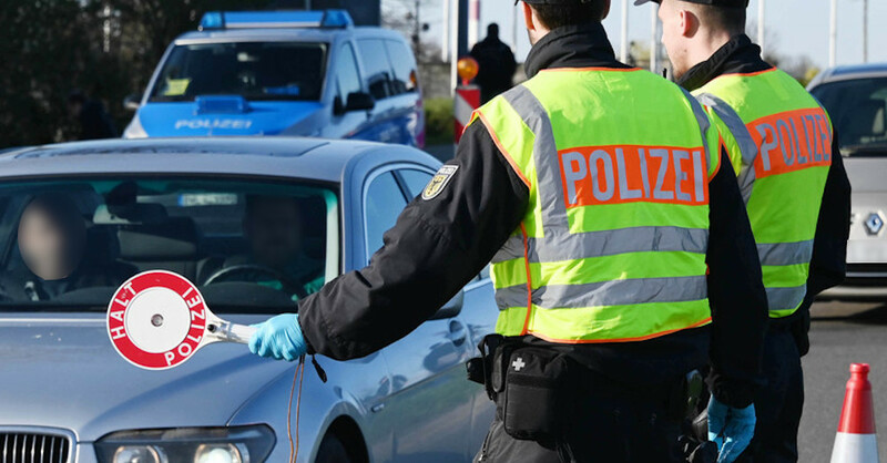 Polizeikontrolle, Grenzübergang, Straßburg, Kehl, Frankreich, Elsass, © Uli Deck - dpa