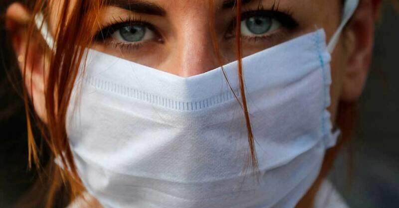Mundschutz, Atemschutzmaske, Coronavirus, Pandemie, © Frank Augstein - AP / dpa (Symbolbild)