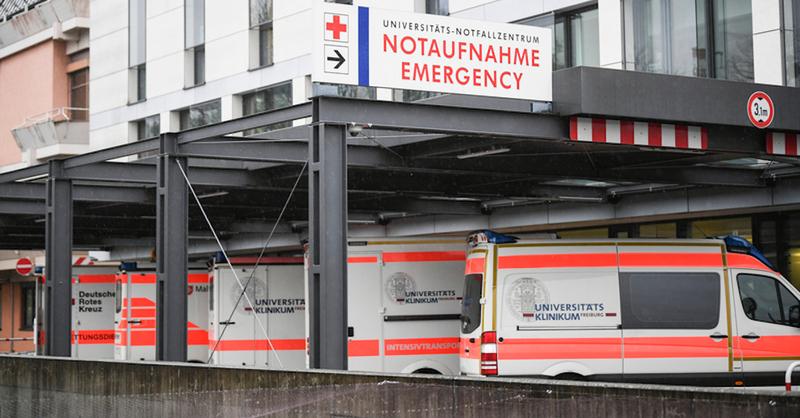 Uniklinik Freiburg, Notaufnahme, © Patrick Seeger - dpa