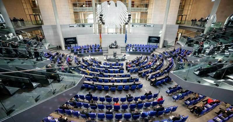 Bundestag, Bundesregierung, Parlament, Bundestagsabgeordnete, © Michael Kappeler - dpa (Archivbild)