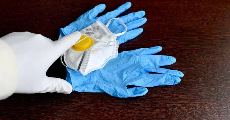 Atemschutzmaske, Einweghandschuhe, Medizin, Gesundheit, © Pixabay (Symbolbild)