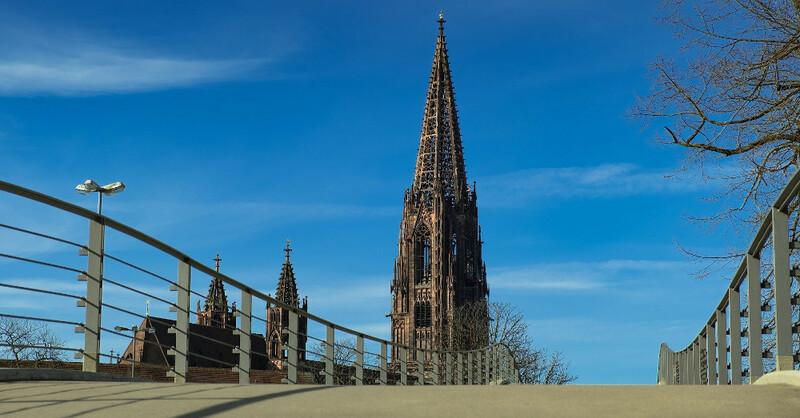 Freiburg, Münster, Brücke, Stadtgarten, Kirche, © Pixabay (Symbolbild)