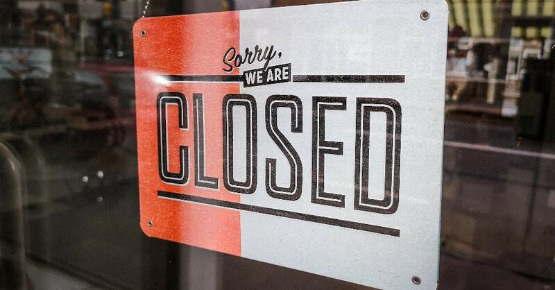 geschlossen, closed, Laden, Geschäft, Unternehmen, Betrieb, Wirtschaft, Coronakrise, © Pixabay (Symbolbild)