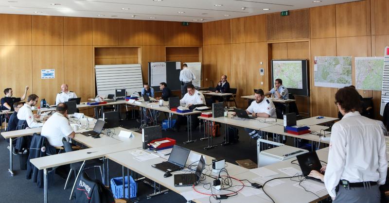 Führungsstab, Freiburg, Coronavirus, Feuerwehr, DRK, © Stadt Freiburg