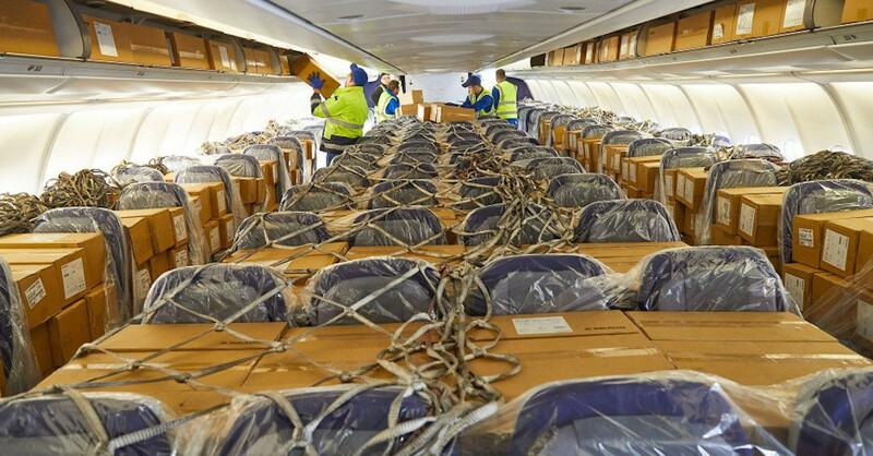 Atemschutzmasken, Mundschutz, Lieferung, China, Flugzeug, © dpa (Symbolbild)