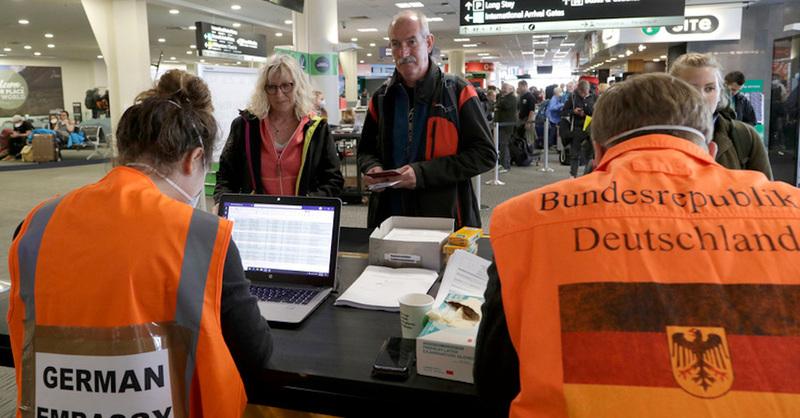 Flughafen, Neuseeland, Rückholaktion, Coronakrise, Deutsche Botschaft, © Mark Baker - AP / dpa