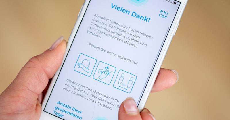 App, Handy, Smartphone, Robert-Koch-Institut, Coronavirus, Covid-19, © Matthias Balk - dpa
