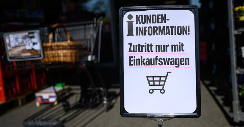 Einkaufwagenpflicht, Supermarkt, Einkaufen, © Sebastian Gollnow - dpa (Symbolbild)