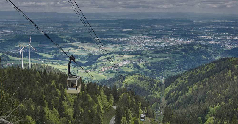 Schauinslandbahn, Schauinsland, Seilbahn, Schwarzwald, © Pixabay (Symbolbild)