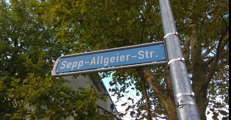 Sepp-Allgeier-Straße, Freiburg, Straßenschilder , © © baden.fm