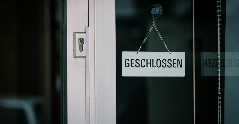 geschlossen, Schild, Lockdown, Einzelhandel, Laden, Geschäft, © Pixabay (Symbolbild)