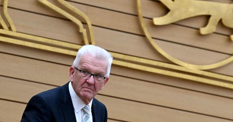 Winfried Kretschmann, Ministerpräsident, Baden-Württemberg, Landtag, Grüne, © Marijan Murat - dpa (Archivbild)