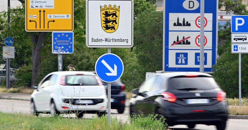 Kehl, Grenzübergang, Grenze, Verkehr, Straßburg, Frankreich, Elsass, © Uli Deck - dpa (Symbolbild)