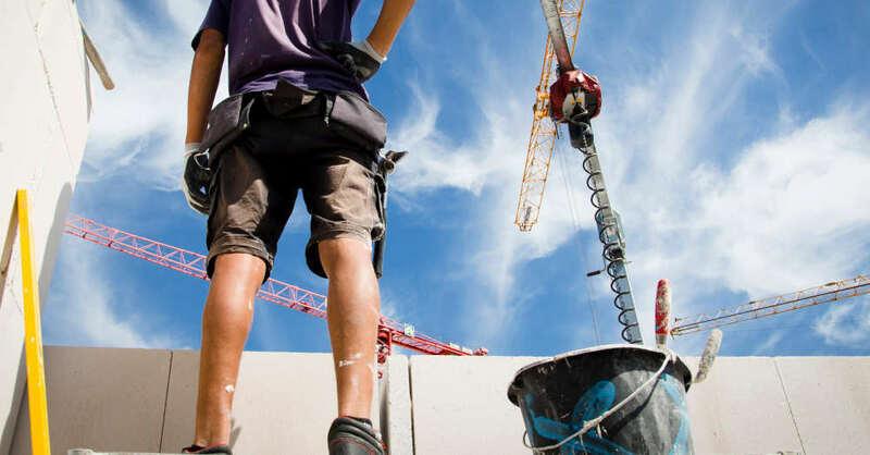 Baustelle, Hochbau, Bauarbeiter, Kran, © Industriegewerkschaft Bauen-Agrar-Umwelt (Symbolbild)