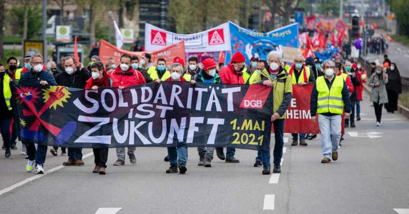Tag der Arbeit, Stuttgart, DGB, Gewerkschaft, Demonstration, © Christopher Schmidt - dpa