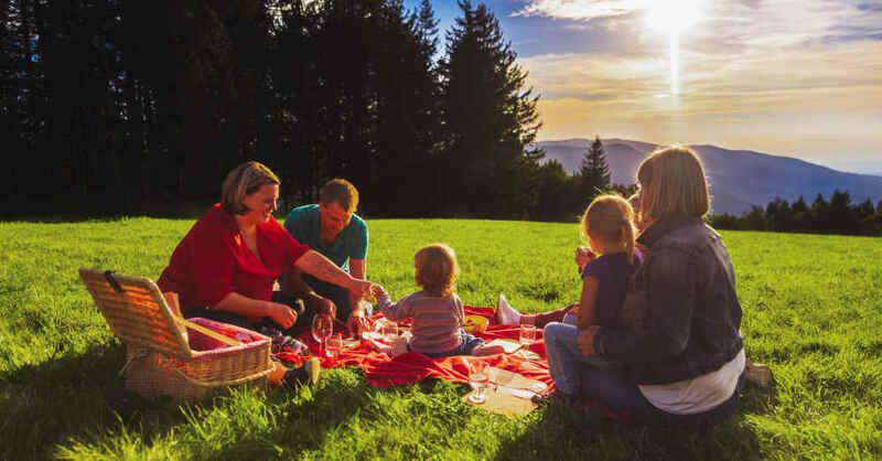 Picknick, Familie, Freizeit, Ausflug, Hochschwarzwald, Brend, © Hannes Kutza / Hochschwarzwald Tourismus GmbH (Symbolbild)