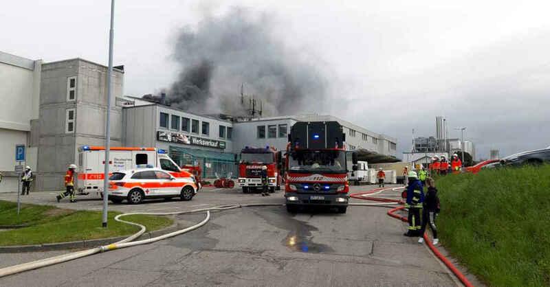 Bonndorf, Großbrand, Adler, Fleischfabrik, Feuerwehr, DRK, © DRK Kreisverband Freiburg