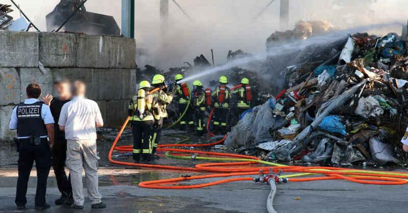 Malterdingen, Großbrand, Recyclingbetrieb, Hurter, Feuerwehr, © baden.fm