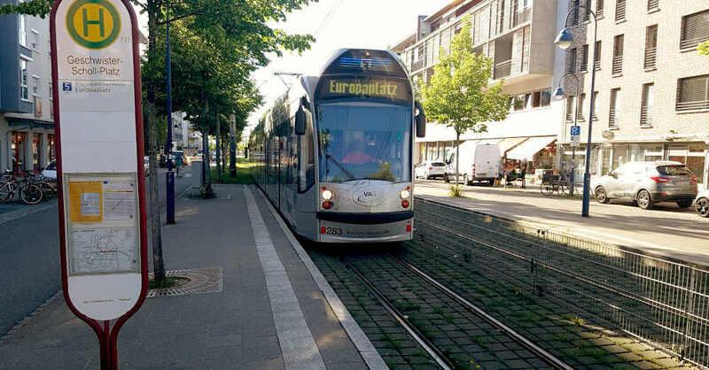 Straßenbahn, Linie 5, Rieselfeld, Geschwister-Scholl-Platz, Europaplatz, Tram, VAG, © baden.fm