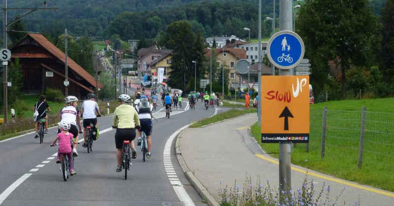 SlowUp, Basel, Dreiland, Dreiländereck, Fahrrad, Tour, © www.slowupch (Archivbild)