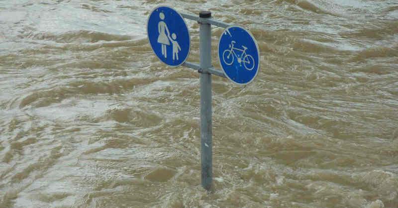 Hochwasser, Überflutung, Überschwemmung, Unwetter, Wassermassen, Fluss, © Pixabay (Symbolbild)