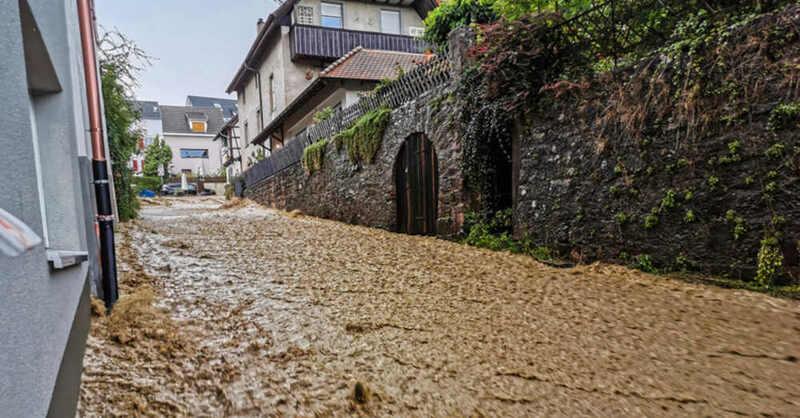 Lörrach, Tumringen, Hochwasser, Schlamm, Unwetter, Überflutung, Überschwemmung, © Kristoff Meller - dpa