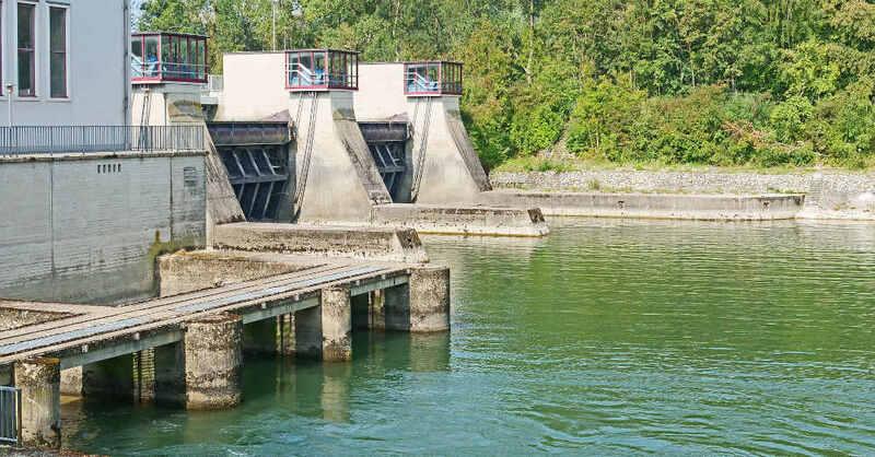 Wasserkraftwerk, Staustufe, Schleuse, Fluss, © Pixabay (Symbolbild)