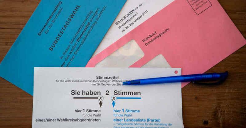 Bundestagswahl, Wahlschein, Stimmzettel, Wahlbrief, Briefwahl, Wahl, Stimmen, © Sven Hoppe - dpa (Symbolbild)