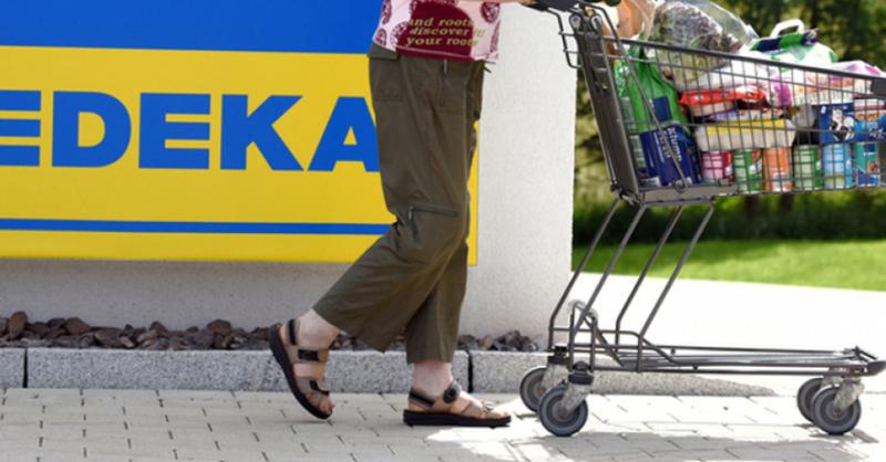 Edeka, Einkaufswagen, © Patrick Seeger - dpa
