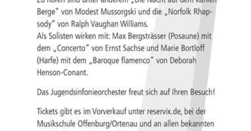 Jugendsinfonieorchester Offenburg - Sinfoniekonzert, © © Veranstalter