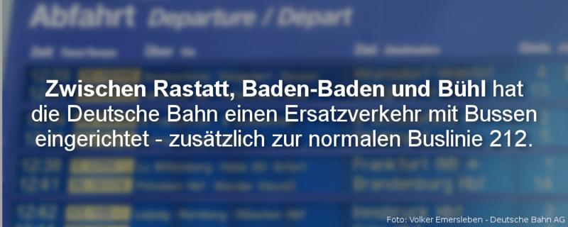 Grafik Sperrung Rheintalbahn, © baden.fm