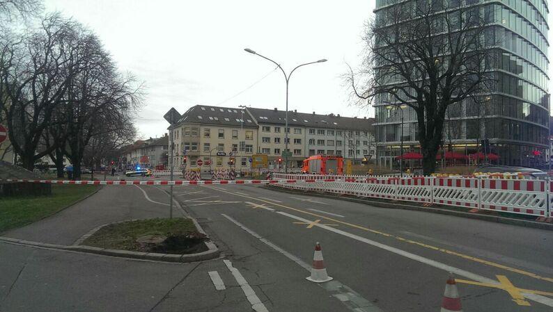 Polizei, Absperrung, Friedrichring, Freiburg, © baden.fm