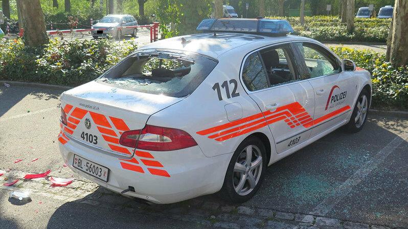 Basel, Zürich, Krawalle, Ausschreitungen, Polizei,, © Polizei Basel