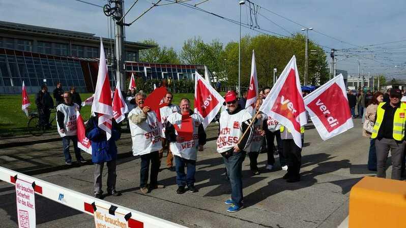 Streik, VAG, verdi, Bus, Bahn, Rente; Rente,, © baden.fm