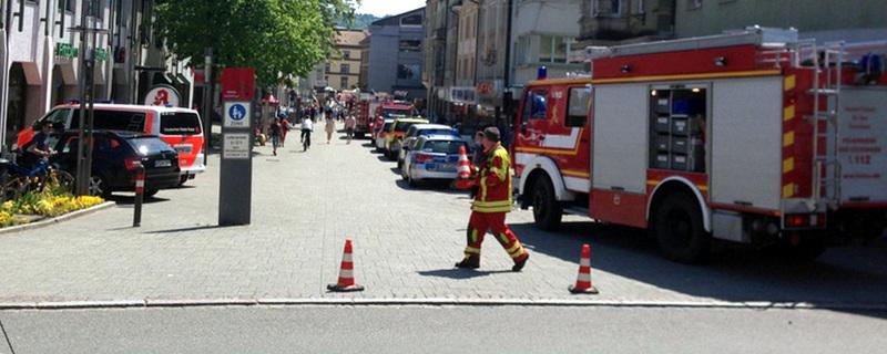 Feuerwehr, Absperrung, Bad Säckingen, © FRM - dpa