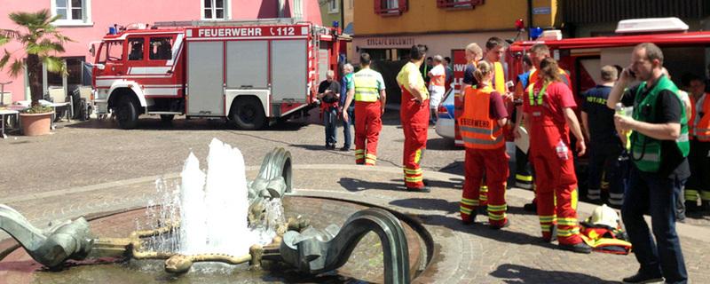 Bad Säckingen, Großeinsatz, Feuerwehr, © FRM - dpa