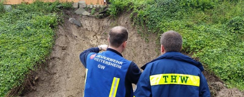 THW, Feuerwehr, Erdrutsch, © baden.fm