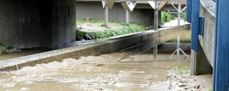 Hochwasser, Heitersheim, Unterführung, © baden.fm