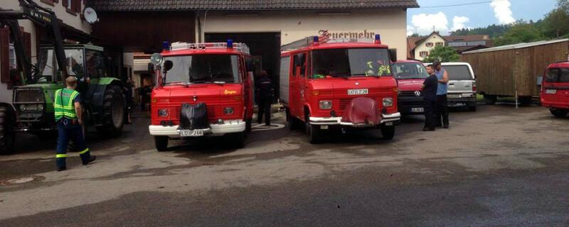 Steinen, Feuerwehr, Hochwasser, © baden.fm-Hörerfoto