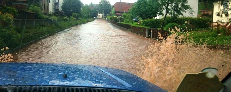 Steinen, Hochwasser, Überflutung, © baden.fm-Hörerfoto