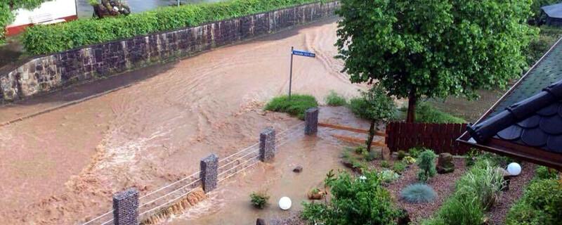 Überflutung, Hochwasser, © baden.fm-Hörerfoto