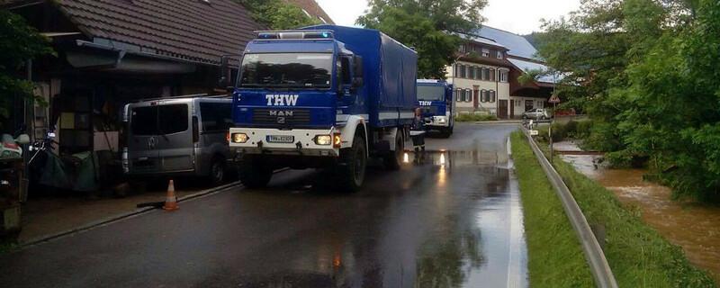 THW, Überflutung, Starkregen, © baden.fm-Hörerfoto
