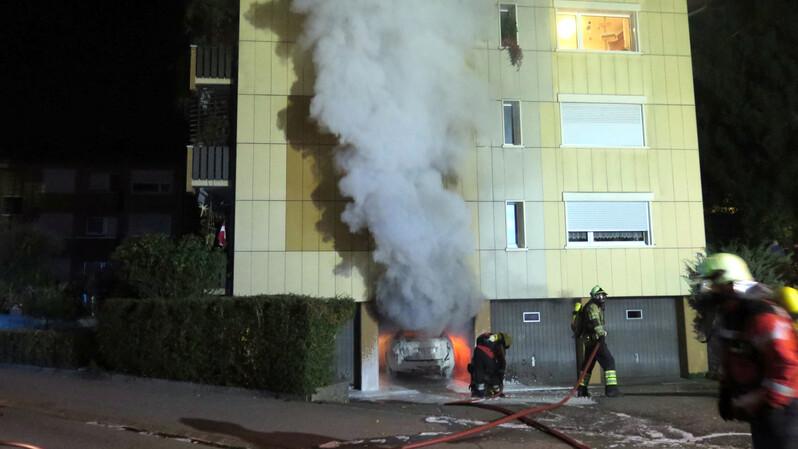 Brand, Feuer, Garage, © Kantonspolizei Basel-Landschaft