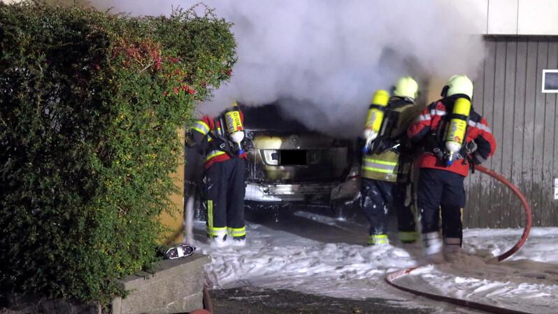 Feuerwehr, Garage, Brand, © Kantonspolizei Basel-Landschaft