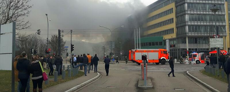 Feuerwehr, Solar Info Center, Freiburg, Brand, © baden.fm-Hörerfoto