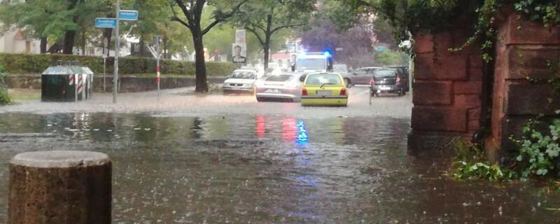 Unwetter, Hochwasser, Freiburg, © baden.fm