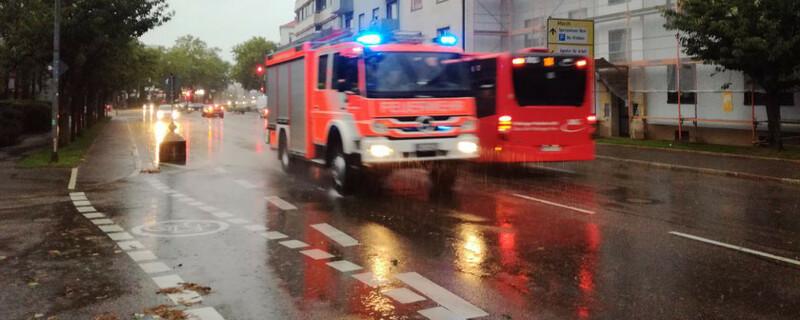 Feuerwehr, Freiburg, Unwetter, © baden.fm