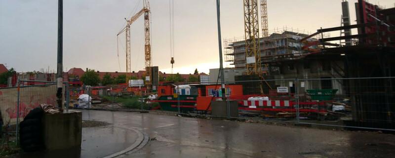 Gutleutmatten, Baustelle, Kran, © baden.fm