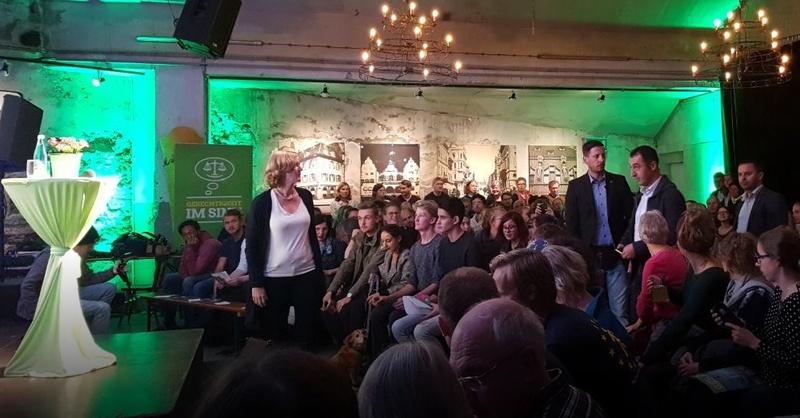 Wahlkampf, Grüne, Cem Özdemir, Kerstin Andreae, Wodanhalle, © baden.fm